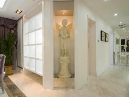 欧式别墅餐厅玄关雕像装修设计