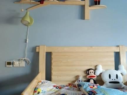 简约田园儿童卧室床头装饰效果图