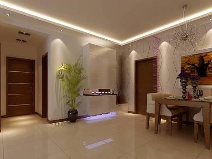三室两厅现代风格餐厅壁纸装修设计