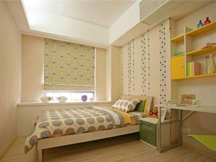 现代田园混搭卧室飘窗床头柜设计图