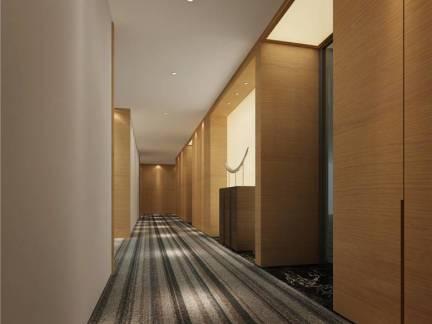 清爽简约办公室过道地毯效果图