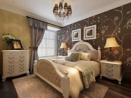 欧式卧室精致装修复古吊灯装饰设计