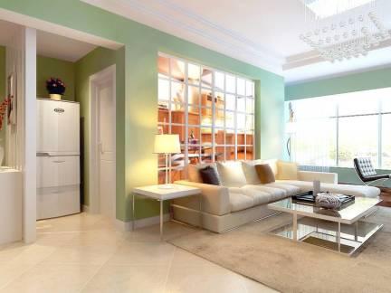 华美地中海风格125平米三居室客厅沙发背景墙设计