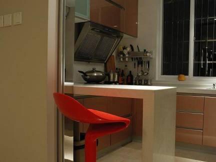 时尚公寓混搭风格开放式厨房装修效果图