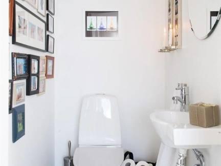 现代卫生间照片墙设计图像