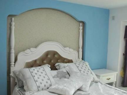 田园风格小户型卧室背景墙装修设计