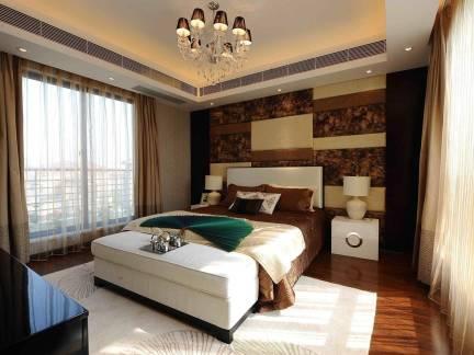 潮流公寓现代风格卧室床头柜样板间