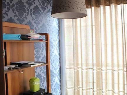 中式小型书房窗帘装修设计