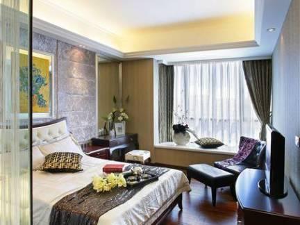 简欧三居室卧室室内装修设计