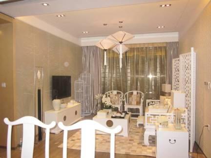 三居室新中式风格客厅屏风装修设计