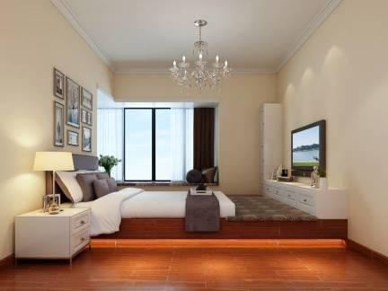 现代五居室卧室照片墙装修效果图