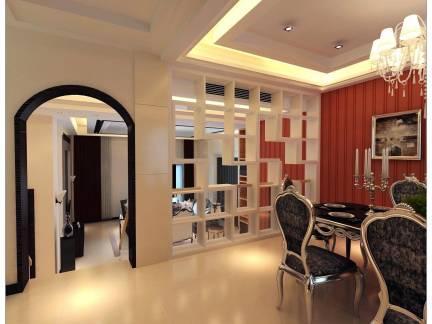 家装新古典餐厅隔断设计效果图