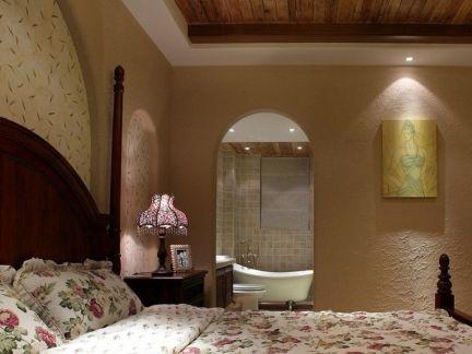 180平米主卧室弧形门洞装修设计