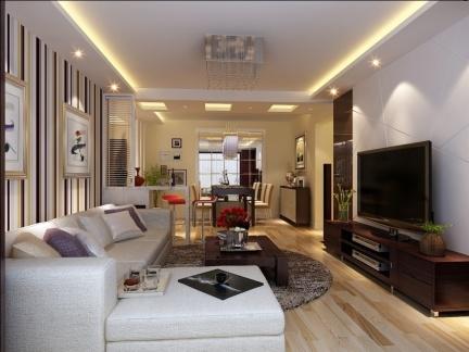 华丽三室两厅客厅电视柜装修设计
