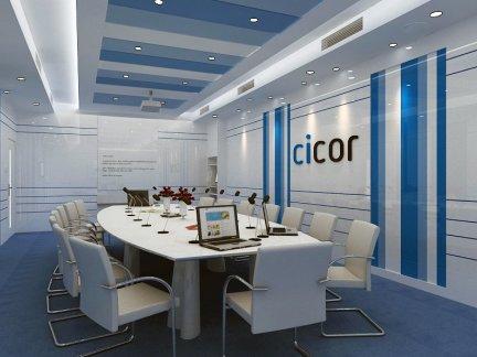 地中海多媒体会议室装修效果图
