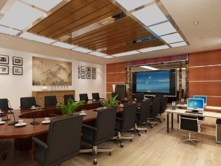 公司会议室布置设计效果图大全