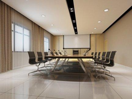 公司会议室室内布置装修效果图