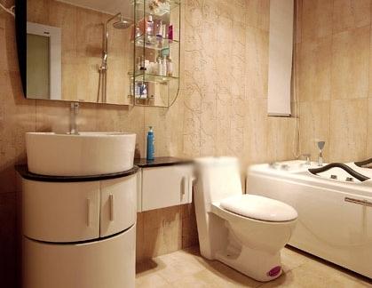 雅致小型别墅卫生间浴室柜装修设计