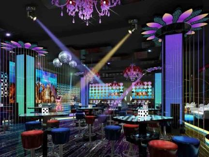 大型酒吧炫彩灯光精装设计