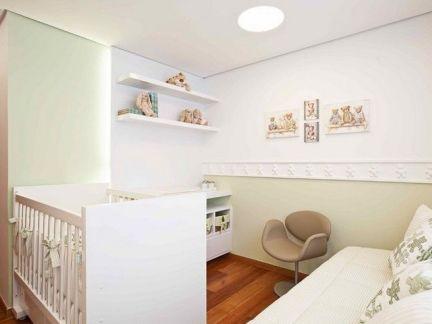 现代简约风格小户型儿童房婴儿床装修设计