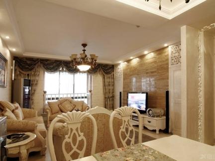 120平米复式楼客厅电视墙装修设计