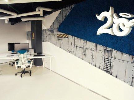 最新公司办公室室内形象墙设计效果图集