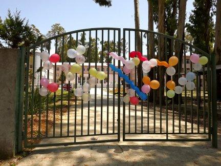 学校大门气球装饰室外效果图