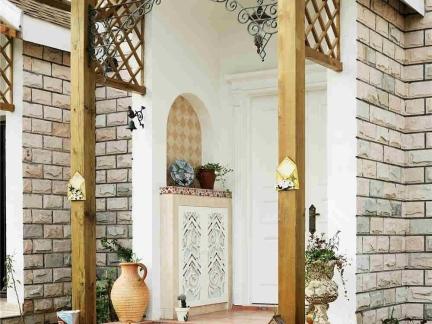 东南亚风格别墅屋外大门装修设计