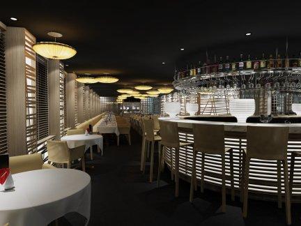 大型咖啡厅酒吧吧台装修设计图片