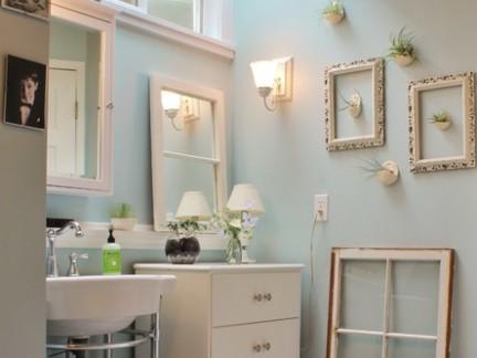 田园风格套房卫生间浴室柜装修设计