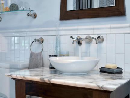 雅致小型卫生间洗手台装修设计