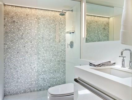 现代简约风格小户型卫生间整体布局图