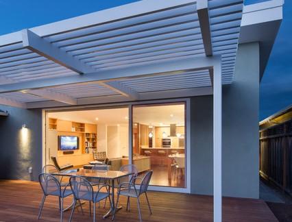 美式乡村风格独栋别墅室外露台精装效果图