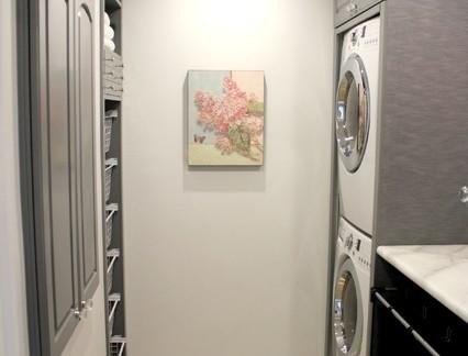 大户型家庭洗衣房背景墙清新壁画装饰效果图