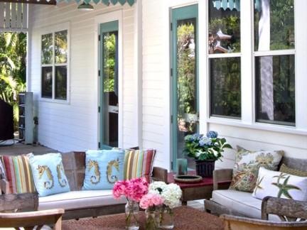 热带风格别墅阳台家具装修设计
