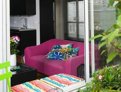 混搭风格自建房阳台飘窗装修设计