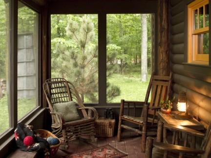 后现代风格别墅木屋阳台飘窗装修设计