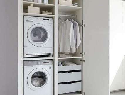 家装简约风白色洗衣柜效果图大全