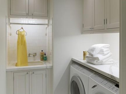 美式风格别墅洗衣房储物柜装修效果图
