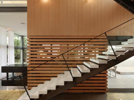 韩式风格复式楼楼梯隔断装修设计