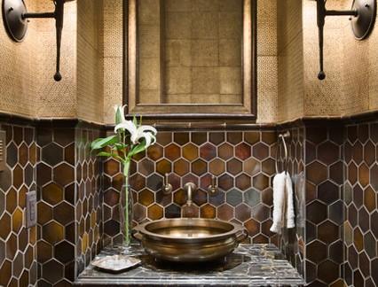 后现代风格豪华卫生间洗手台装修效果图