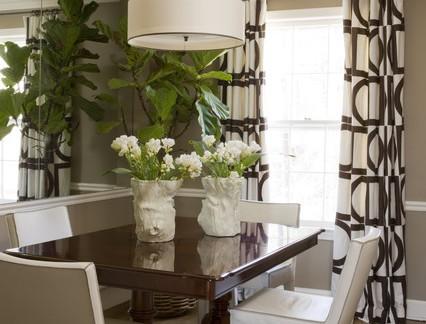 田园风格小户型餐厅窗帘装修设计
