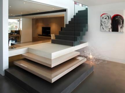 现代简约风格别墅楼梯设计图