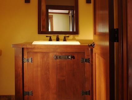 雅致中式卫生间浴室柜装修设计