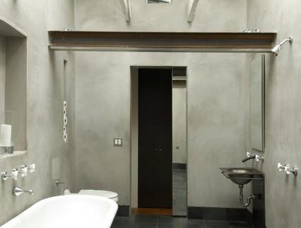 工业风格40平米淋浴间灰色防滑地面砖效果图欣赏