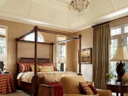田园美式乡村风尚卧室吊顶装修图
