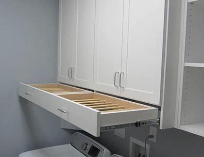 日韩风格小户型洗衣房储物柜装修设计