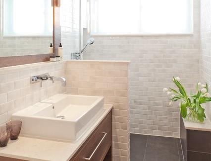 典雅现代89平米小户型卫生间洗手台特效图