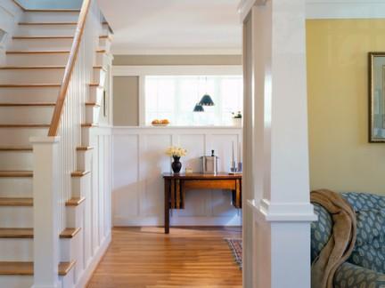 田园风格木质装修过道楼梯效果图