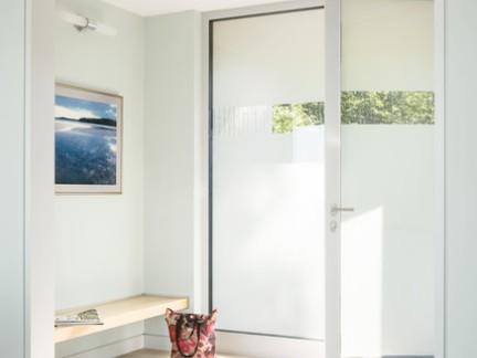美式风格别墅入门玻璃双开门装修设计